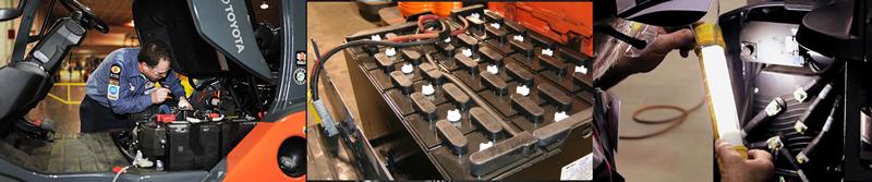 Servicio de regeneración de baterías de carretillas elevadoras